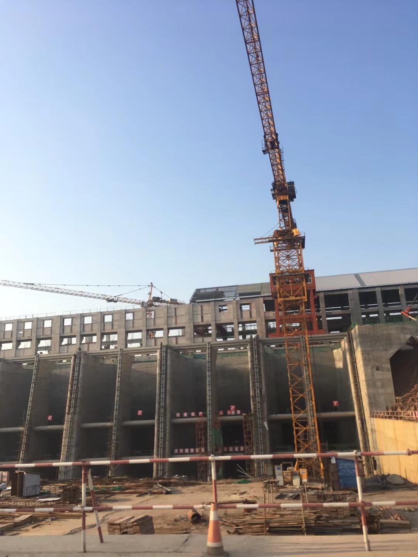 新干杭电枢纽,K80、M900塔吊施工现场|成功案例-河南福元建筑机械设备租赁有限公司