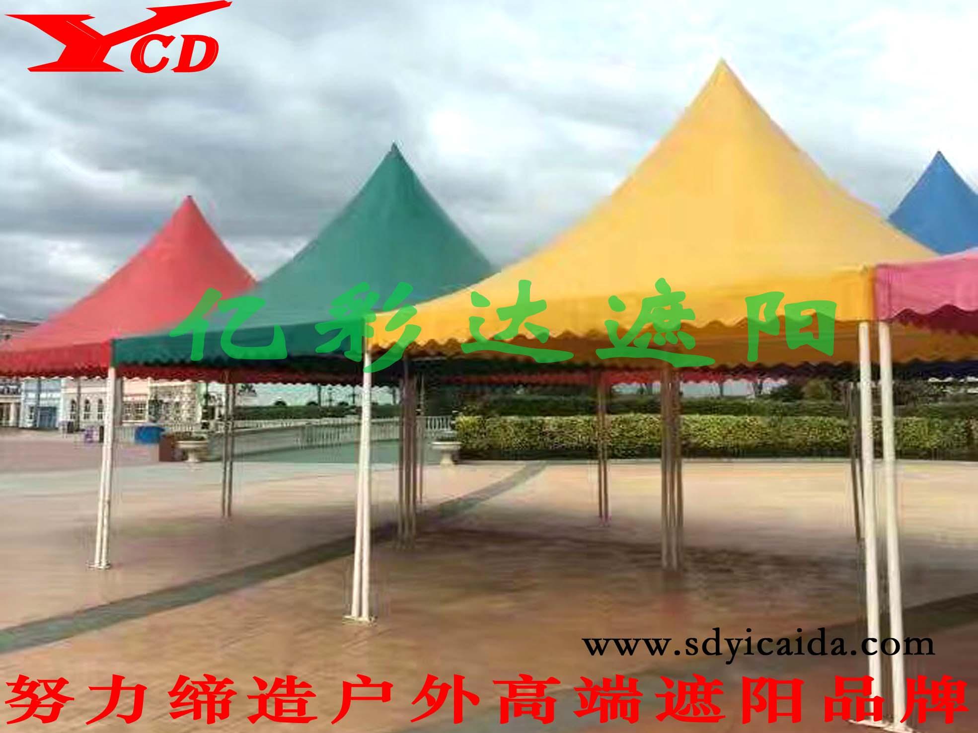 无围布四柱亭|遮阳伞-山东亿彩达遮阳节能科技有限公司