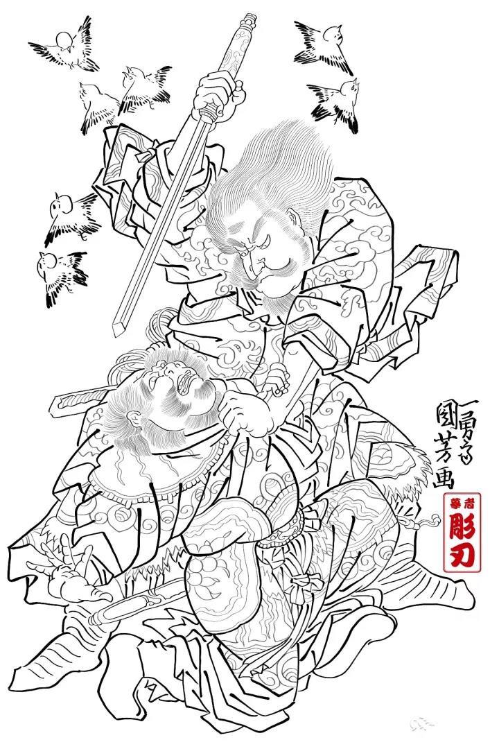 刺青讲堂(19)刺青绘画(一)临摹与改写|洗纹身-郑州天龙纹身工作室