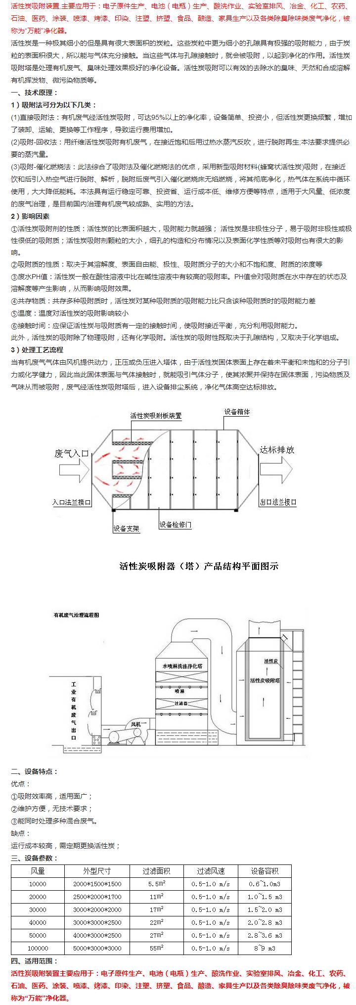 活性炭吸附塔|活性炭吸附塔-泰得裕环保工程有限公司