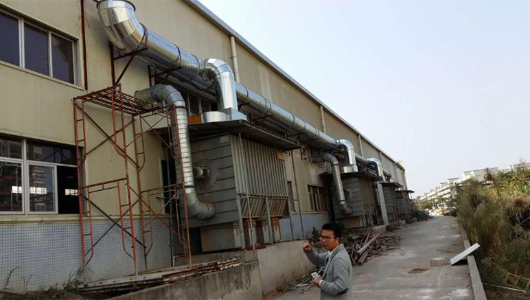 惠州市古韵电子木艺有限公司工程案例粉尘喷涂废弃治理案例|工程案例-泰得裕环保工程有限公司