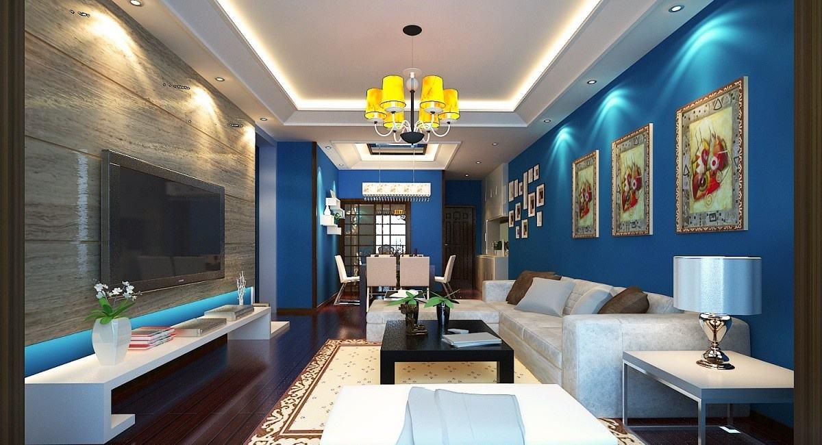 客厅之蓝色