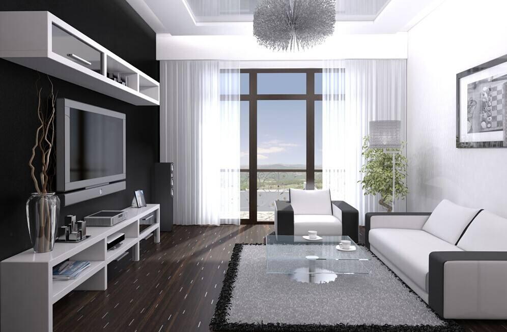 黑白混色客厅