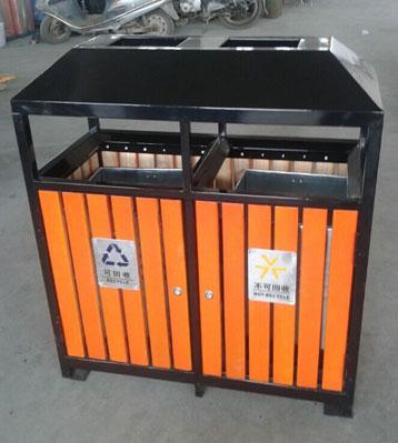 重庆钢木垃圾桶-重庆旭雅文环保设备公司