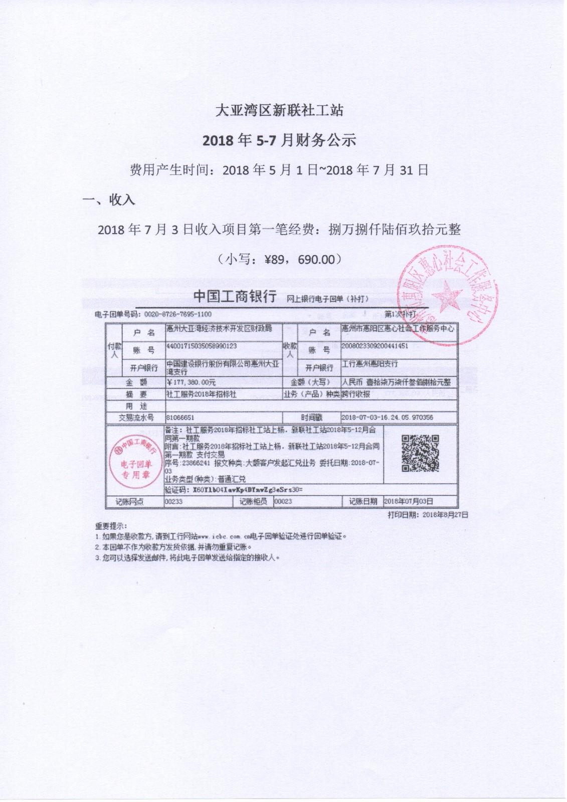 新联社工站2018年5月-7月财务公示|公告栏-网赌ag作弊器|官网