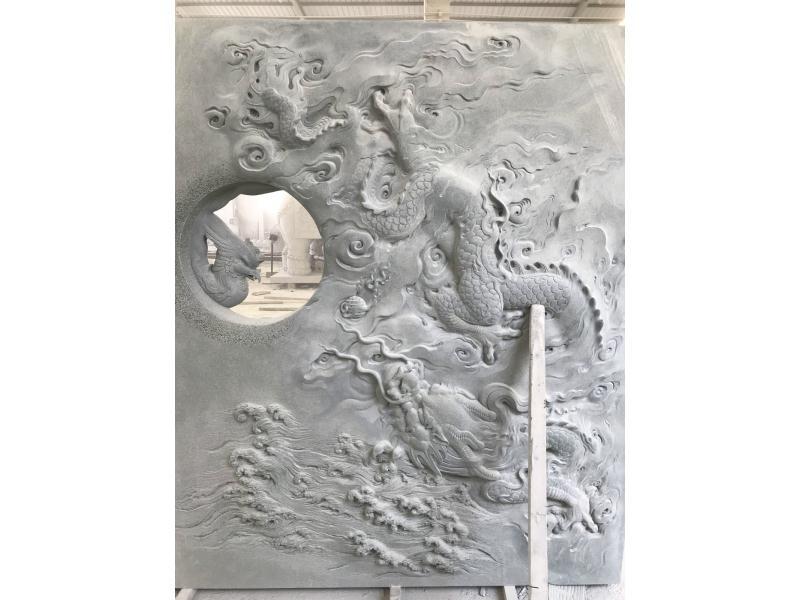 青石龙凤浮雕|建筑装饰-福建惠安县森源石材有限公司