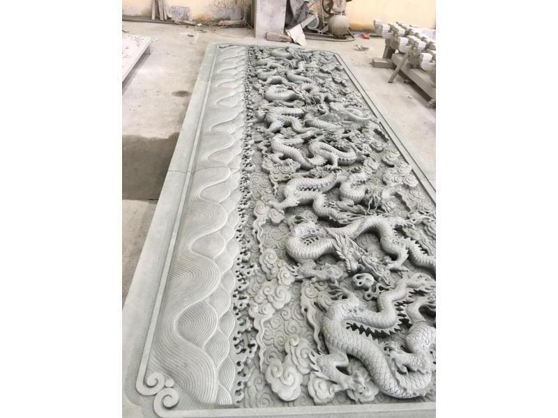 九龙壁浮雕 寺庙古建-福建惠安县森源石材有限公司