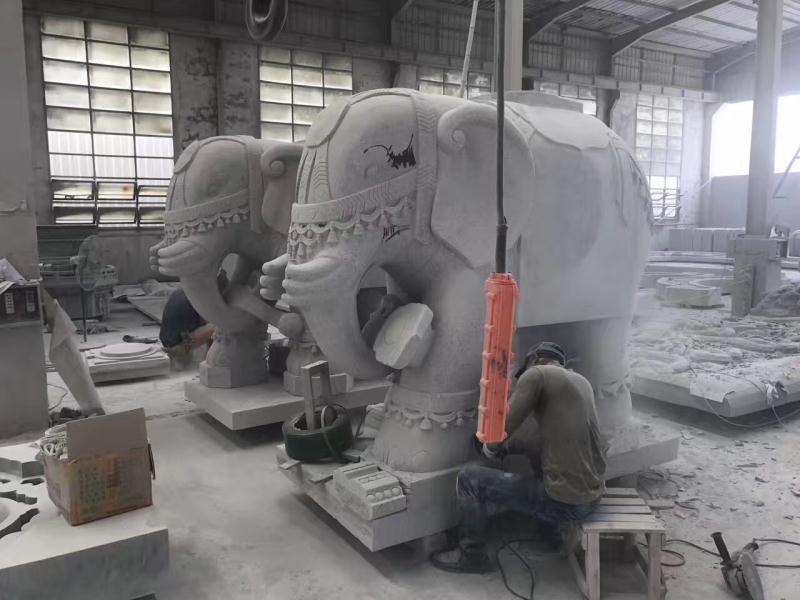 六牙白象雕刻 寺庙古建-福建惠安县森源石材有限公司