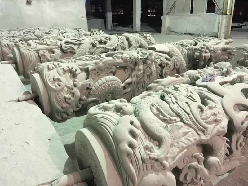 龙柱浮雕|寺庙古建-福建惠安县森源石材有限公司