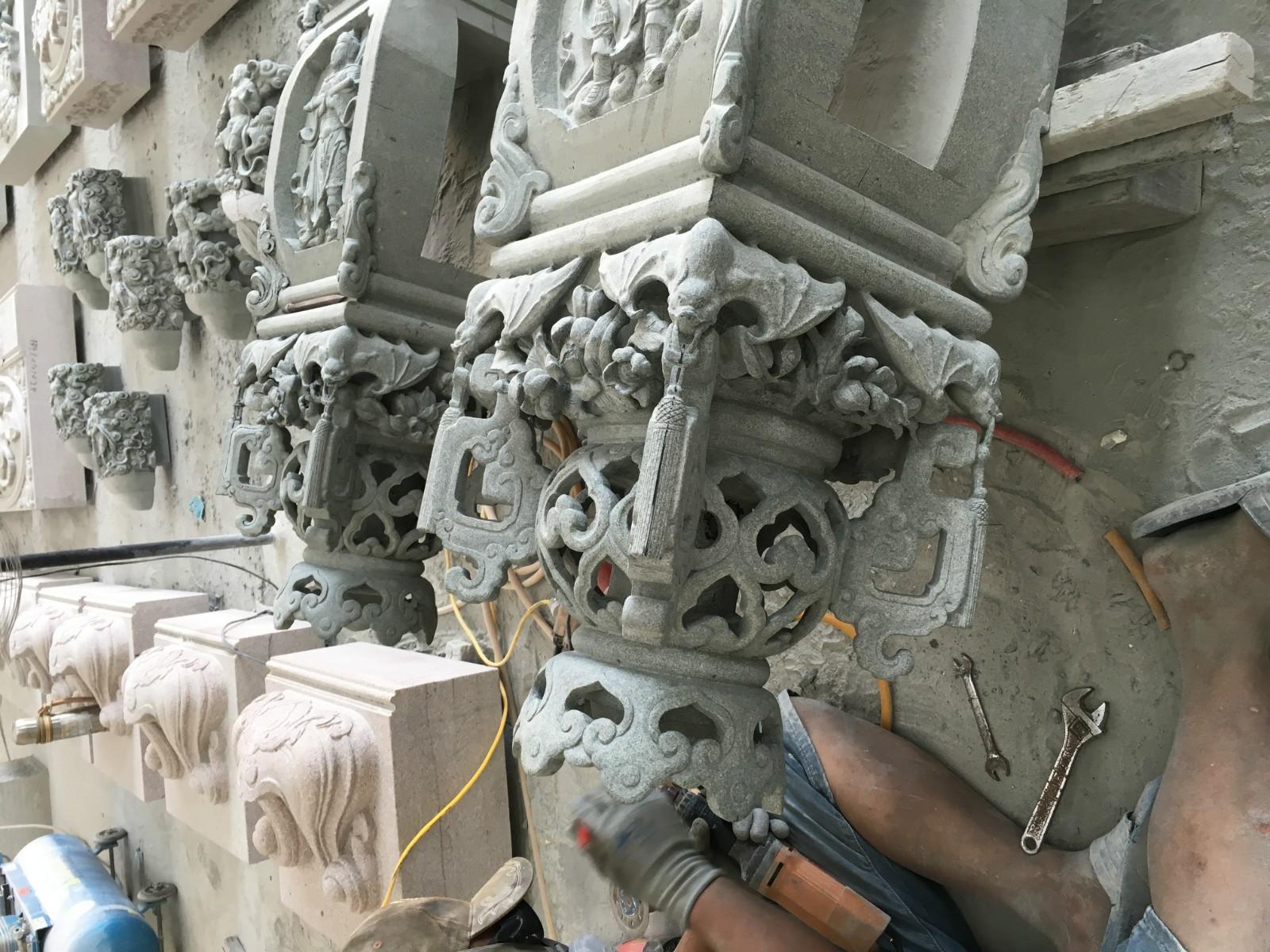 寺庙精雕构件|寺庙古建-福建惠安县森源石材有限公司