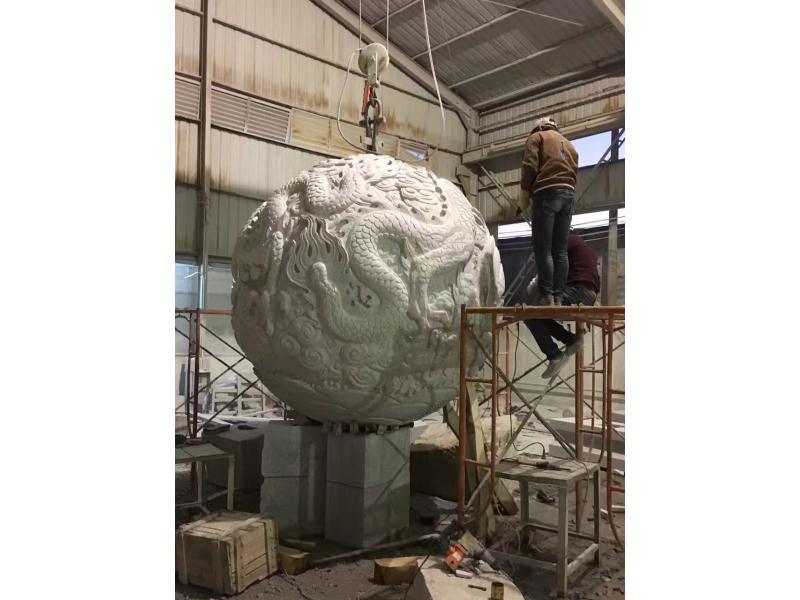 山东双龙戏珠雕塑 园林景观-福建惠安县森源石材有限公司