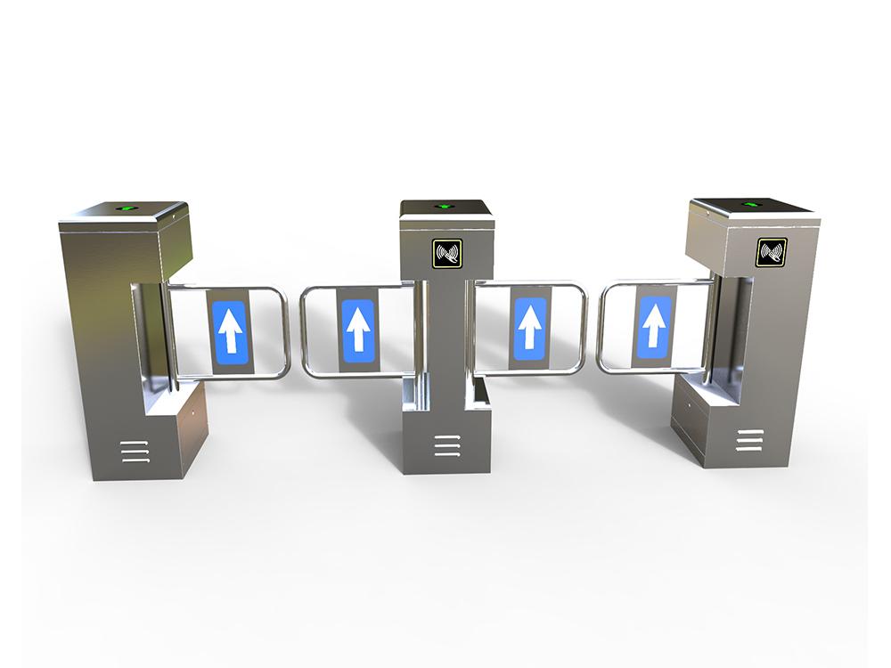 立式单机芯摆闸|人行通道管理系统-厦门金宏鑫信息科技有限公司