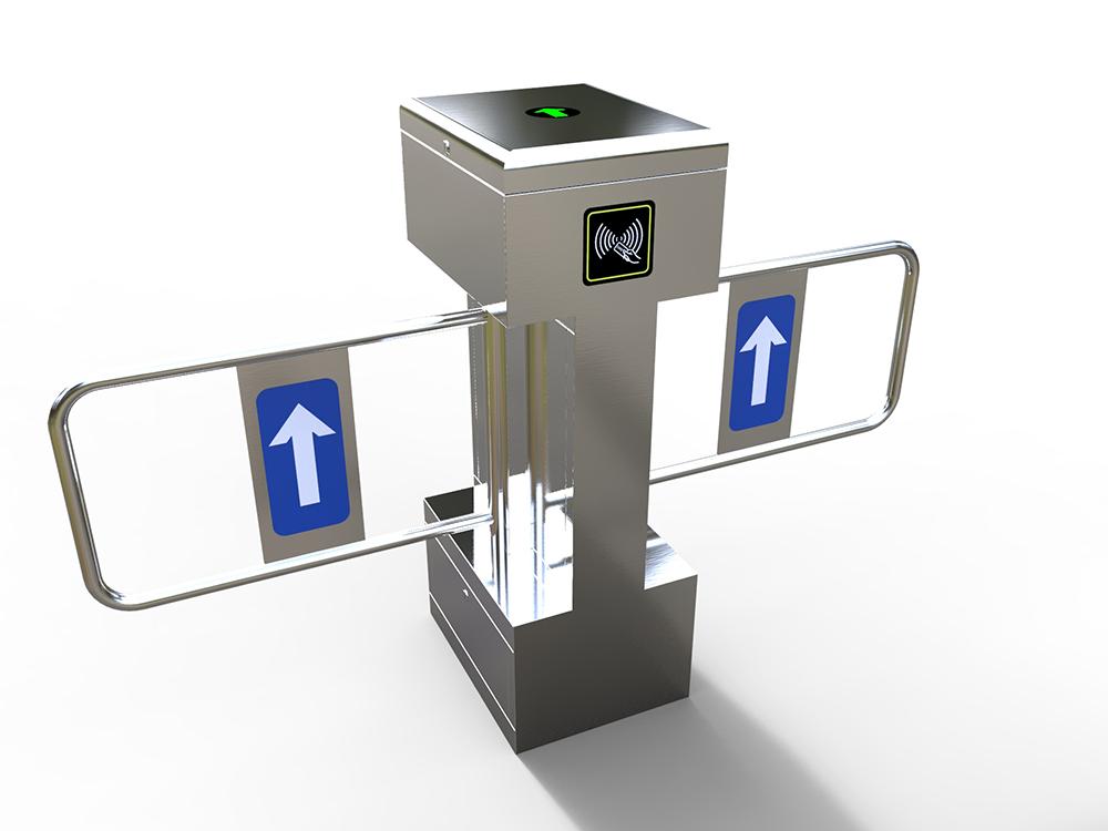 立式双机芯摆闸|人行通道管理系统-厦门金宏鑫信息科技有限公司