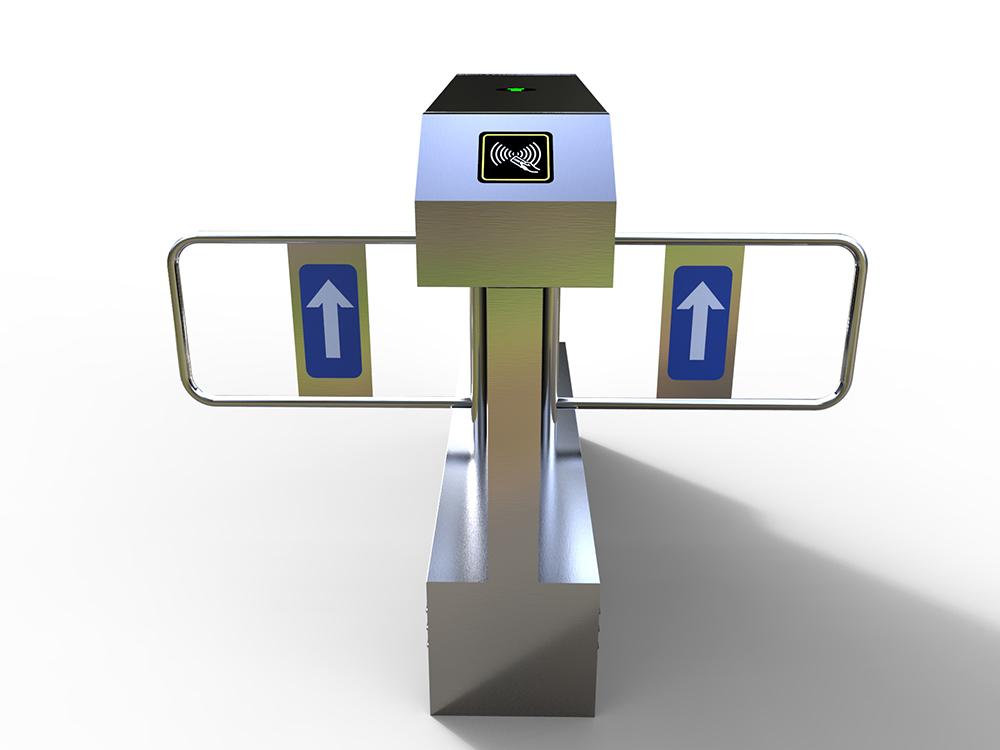 桥式八角双机芯摆闸|人行通道管理系统-厦门金宏鑫信息科技有限公司