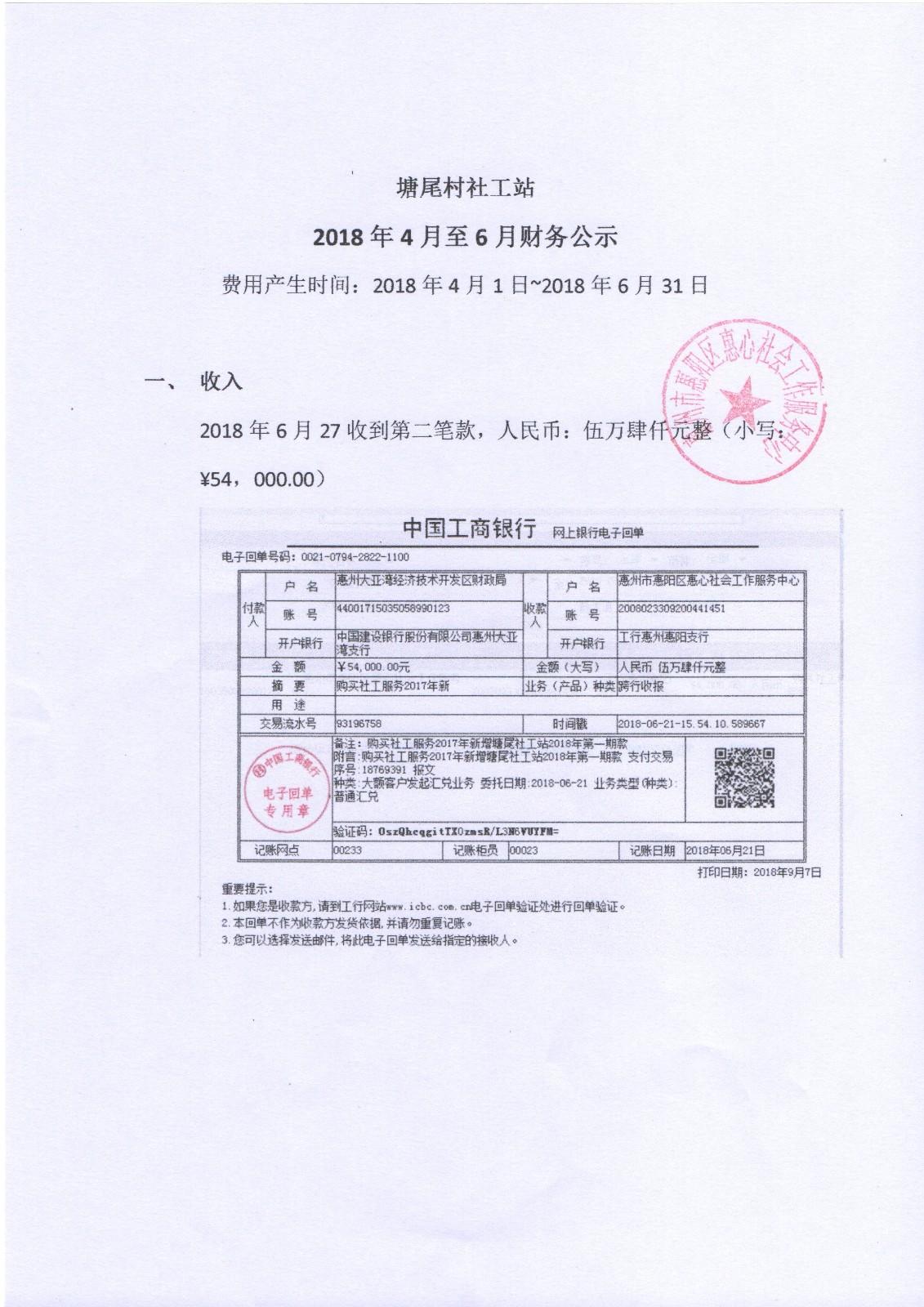 塘尾村社工站2018年4月-6月财务公示|公告栏-网赌ag作弊器|官网