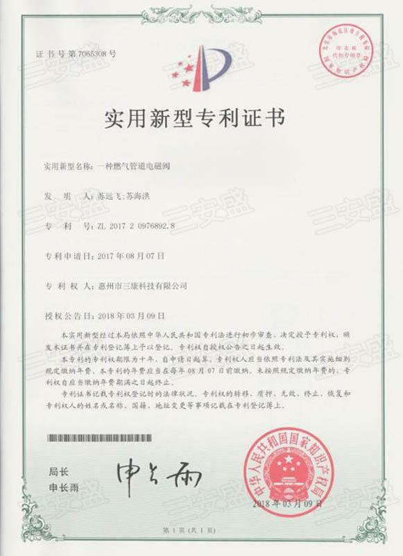 6.证书:一种燃气管道电磁阀.jpg