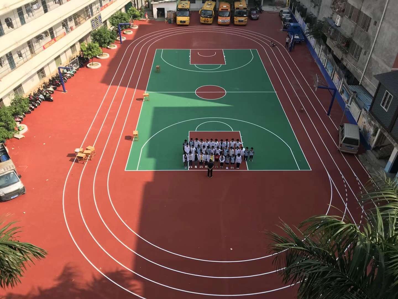 南宁市中育学校丙烯酸球场|最新案例-广西闪亮体育用品有限公司