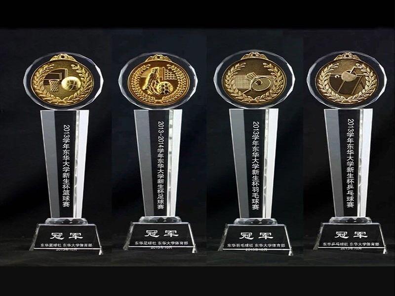 水晶奖杯之军队主题|军队退伍纪念品-浦江鸿亿水晶礼品有限公司