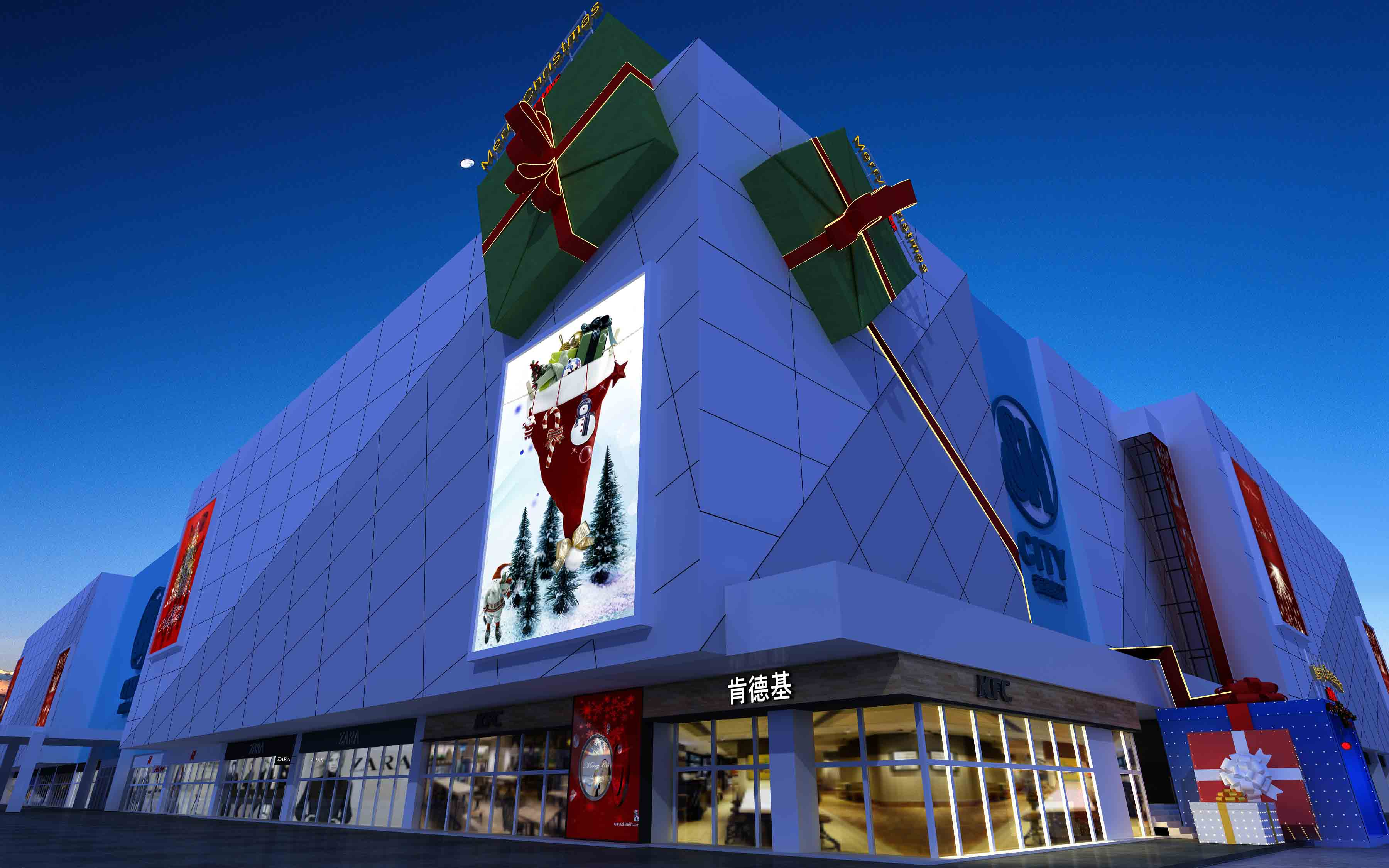 SM圣诞布置效果图|商业空间-厦门市嘉维世纪会展服务有限公司