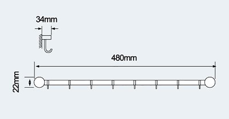 不锈钢挂钩-E-508活动衣钩|不锈钢挂钩-挂钩-高要市金利镇金一恒美装饰五金厂