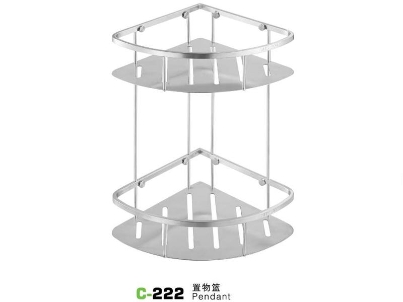 C-222置物篮|不锈钢置物架-置物架-高要市金利镇金一恒美装饰五金厂