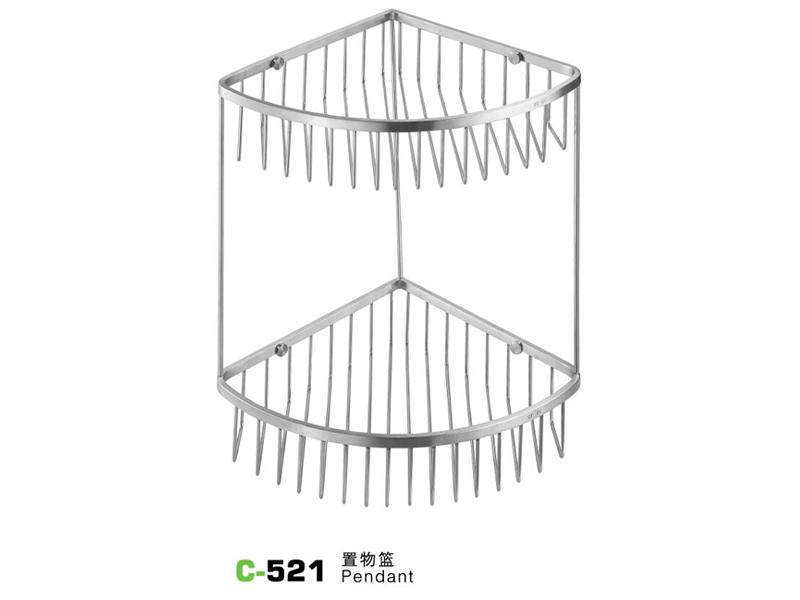 C-521置物篮|不锈钢置物架-置物架-高要市金利镇金一恒美装饰五金厂