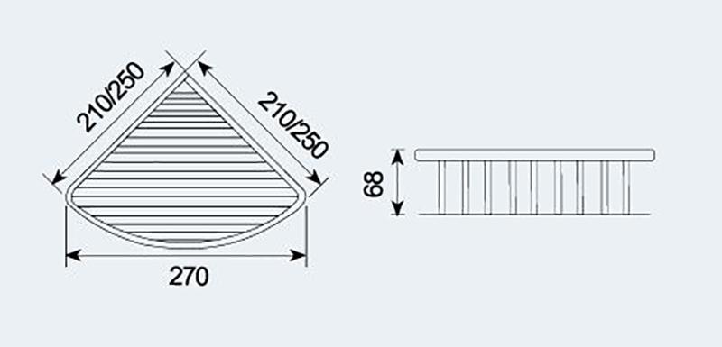 C-522置物篮|不锈钢置物架-置物架-高要市金利镇金一恒美装饰五金厂