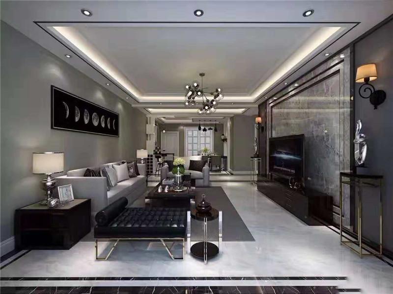 翰林华府王女士黑白灰风格设计|热装小区-南阳华洛装饰工程有限公司
