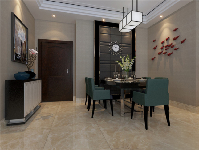 建業森林半島-135.00㎡-新中式風格|熱裝小區-南陽華洛裝飾工程有限公司