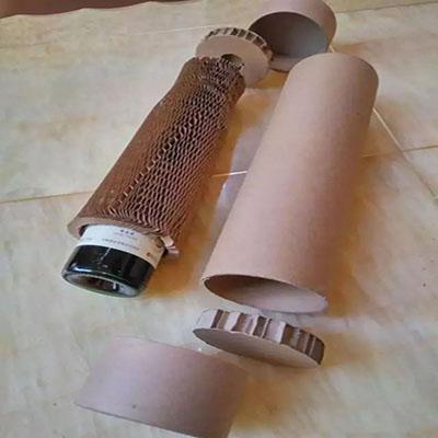 蜂窩紙板用在紅酒單瓶、雙瓶上的包裝|蜂窩紙制品介紹-新鄉市新天包裝材料有限公司