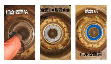 金覆DA耐固合金修复前后对比图