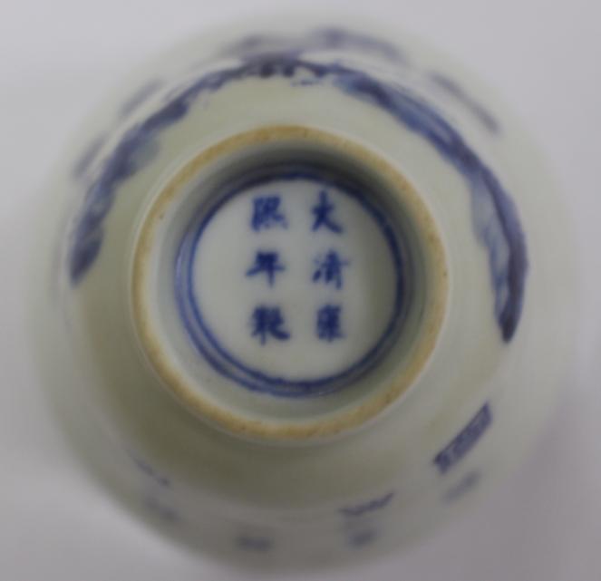 清康熙青花五彩十二花卉纹杯-八月桂花杯|古玩瓷器-泉州鼎尚文化艺术品有限公司