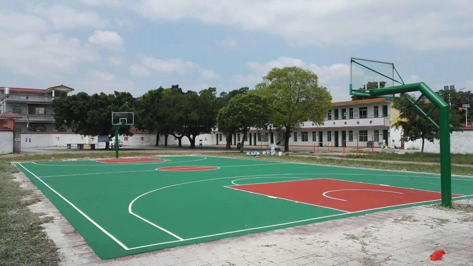 江门市青南小学丙烯酸篮球场|丙烯酸球场-惠州市泓冠达体育设施有限公司
