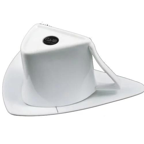 YAMI亚米 三角骨瓷咖啡杯 欧式三角对杯 骨瓷咖啡杯 YM30