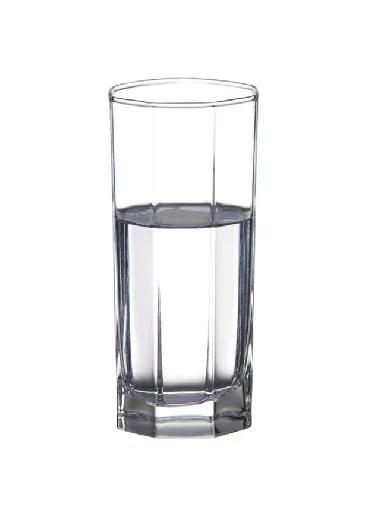 直身320ml八角杯玻璃杯奶杯玻璃水杯果汁杯茶杯酒店用杯
