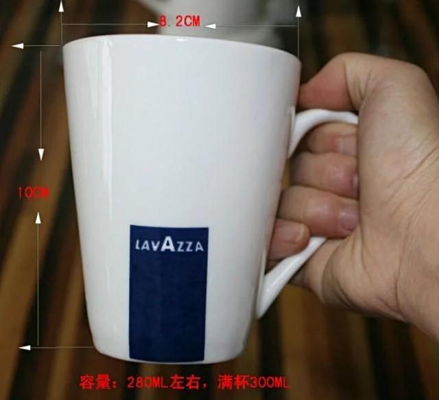 强化瓷经典意大利LAVAZZA拉瓦萨兰标咖啡杯 马克杯280ML