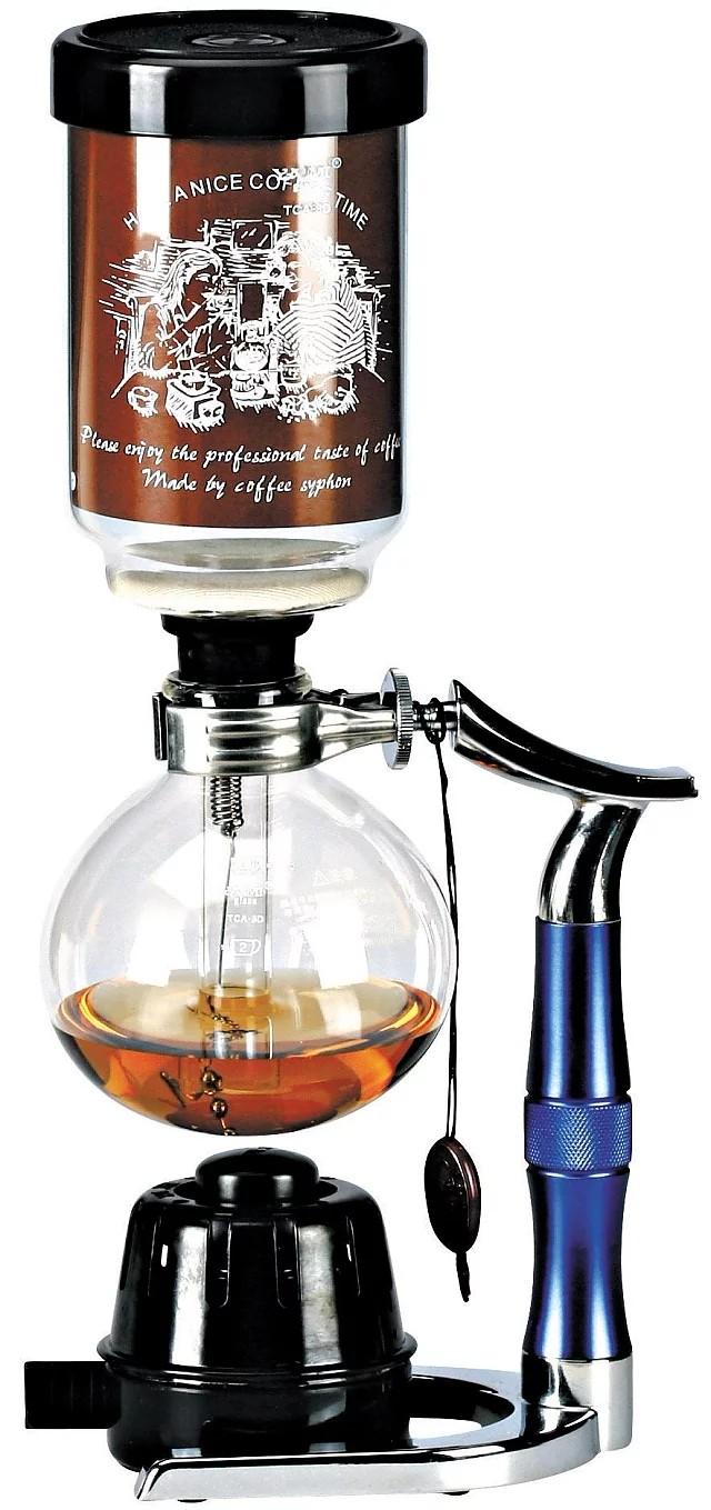 YAMI二代虹吸壶 金属手柄 塞风壶 家用五人份玻璃煮咖啡壶