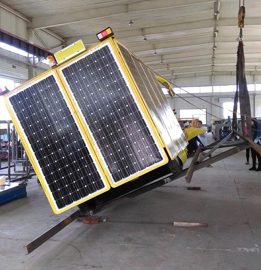 太陽能清掃車檢測現場|啟東新聞-承德縣啟東環保設備有限公司