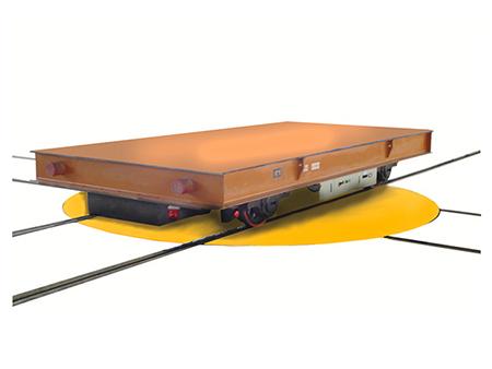 交叉轨道电动平板车
