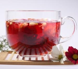 玫瑰洛神三角茶包