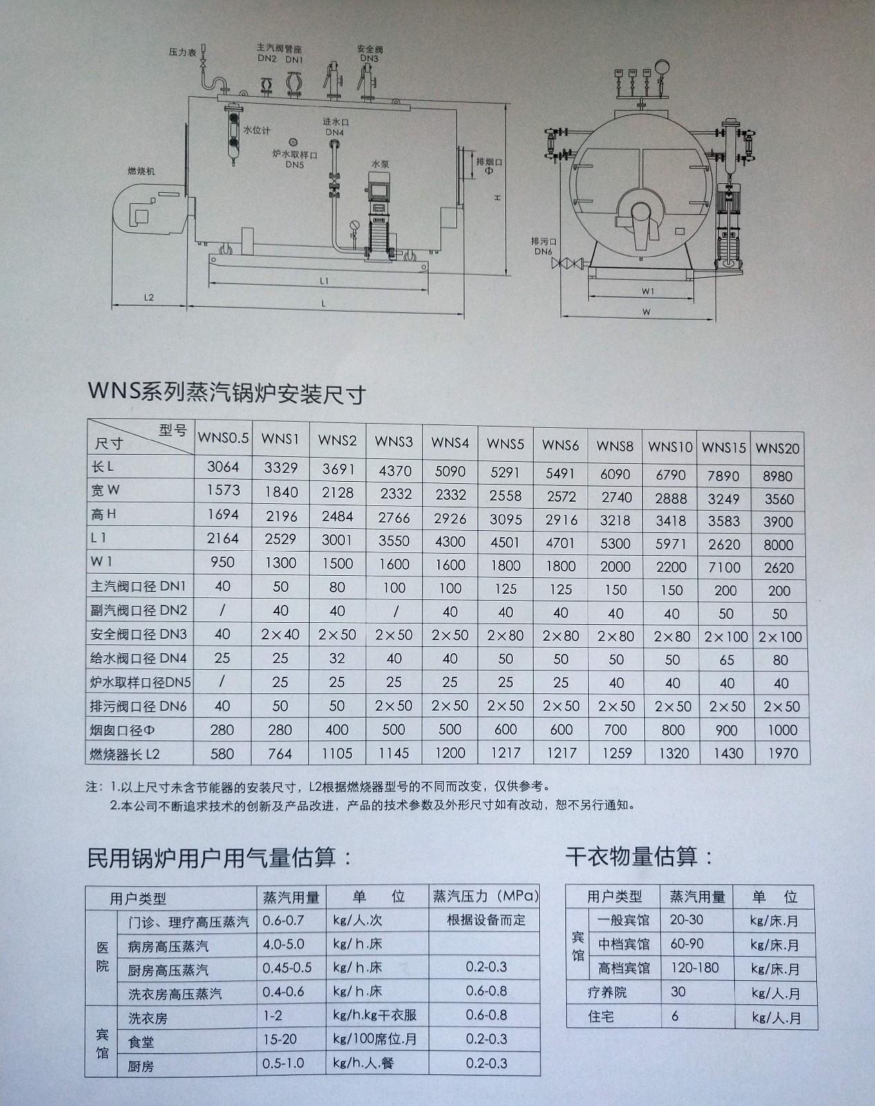 WNS系列蒸汽鍋爐 WNS系列蒸汽鍋爐-秦皇島領航暖通設備安裝有限公司
