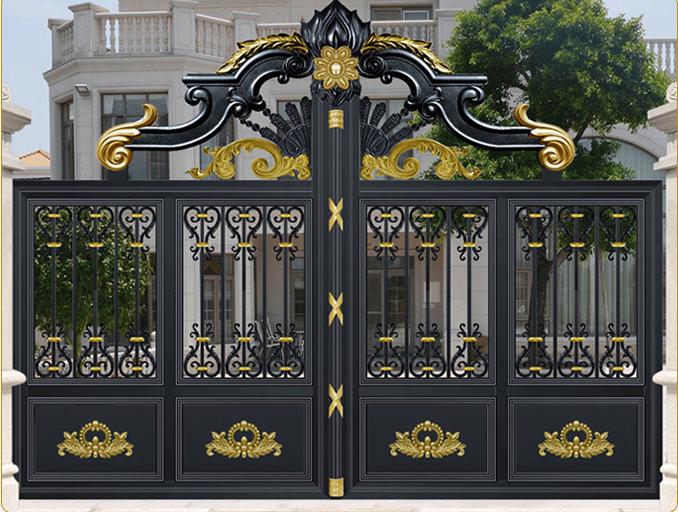 广西铝合金大门|铝艺大门-广西众展金属制品有限公司
