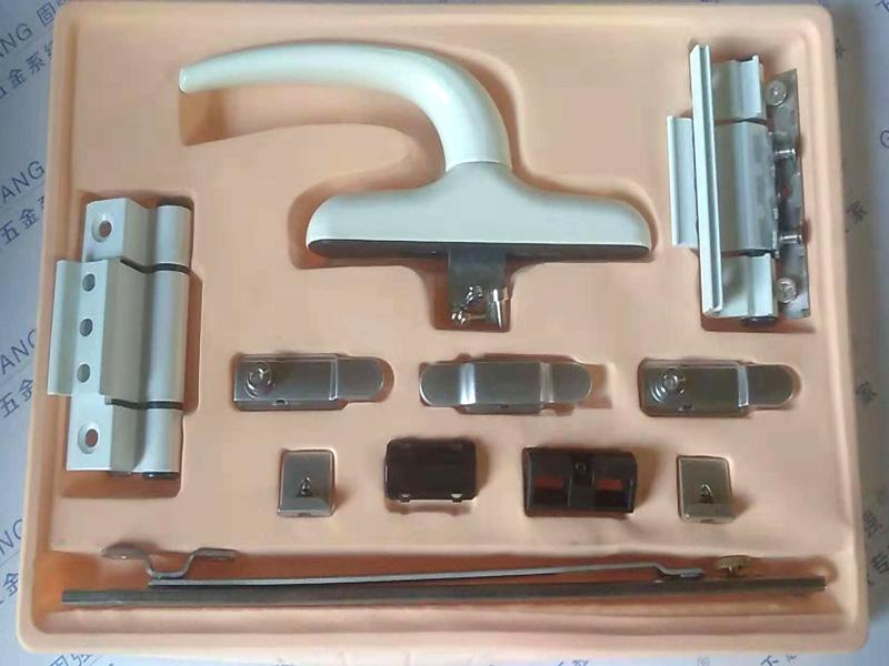 铝合金平开系统精装盒样板-加重大把手