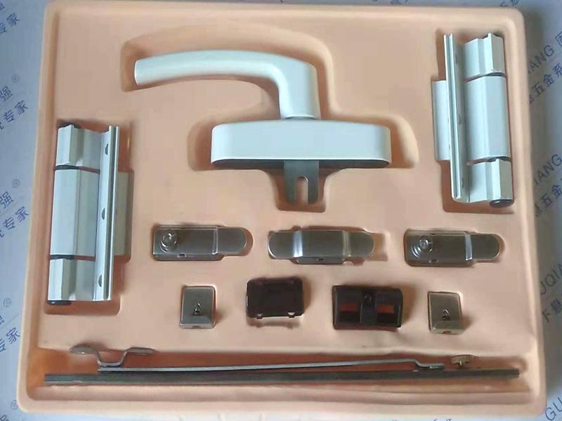 铝合金平开系统精装盒样板-弧形大把手