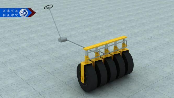 轮胎压路机的转向系统三维动画合作案例天津交通学院|工业应用-徐州艺源动画制作有限公司