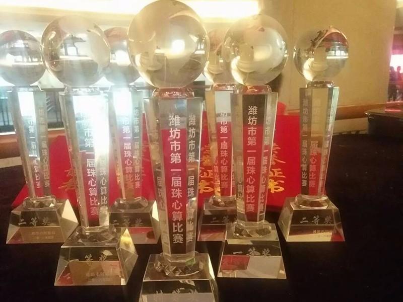 潍坊市第 一届珠心算比赛