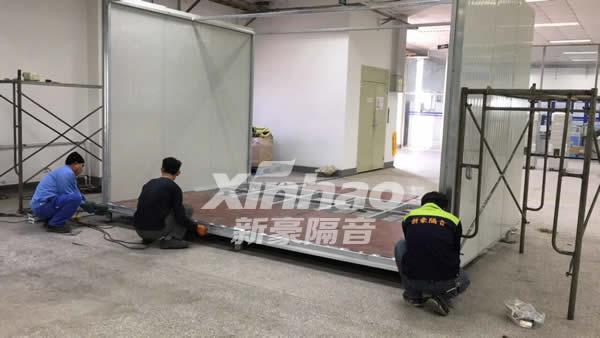 青島阿莫泰科電子有限公司設備隔音房制作工程-南寧廣業建材有限公司