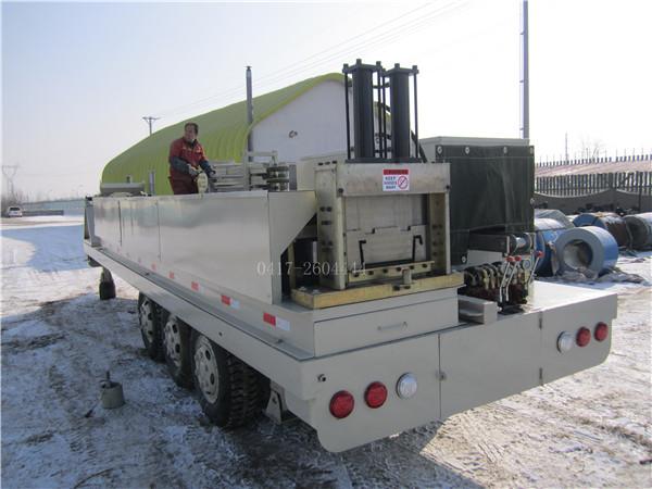 SX-600-305大跨度车载式无梁柱拱形屋面板成型机组