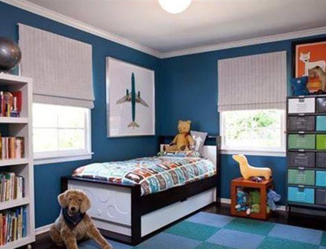 墙面涂料颜色选蓝色