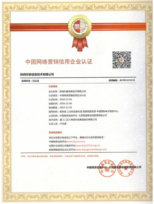 中国网络营销信用企业认证荣誉.jpg